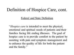 hospice care in the nursing home ppt