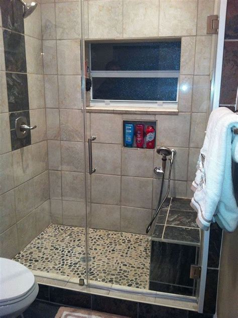 Quarter Bathroom Tiles 48 Best Images About Shower On Pebble Floor