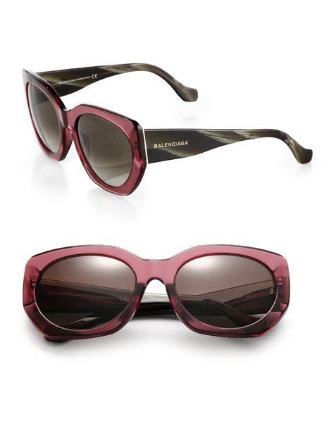 lyst balenciaga 57mm sunglasses in pink