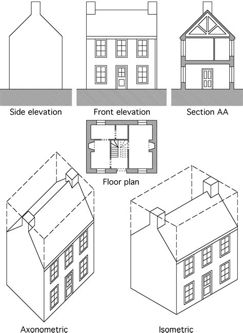 definition of section view architectural drawings modern house
