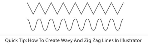 how to make a zigzag pattern in illustrator quick tip how to create wavy and zig zag lines in