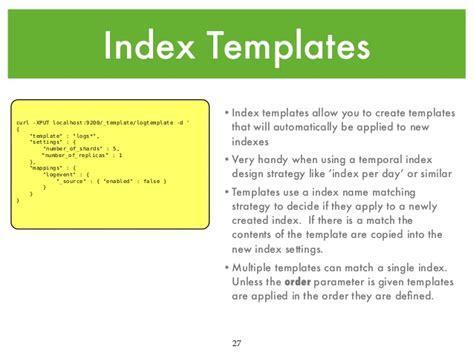elasticsearch index template intro to elasticsearch