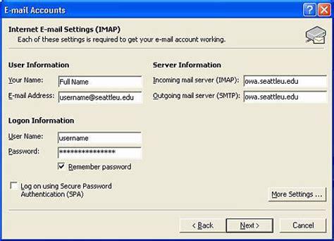 seattle u help desk configuring e mail seattle of