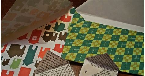 How To Make An Envelope From Scrapbook Paper - halfway to scrapbook paper envelopes