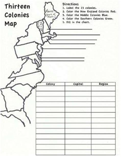 13 Colonies Worksheets by 13 Colonies Map Worksheet Social Studies
