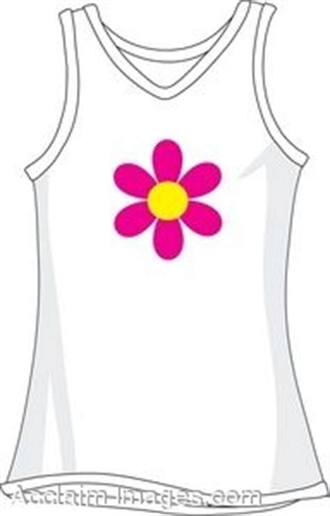 tank top coloring page clipart picture of a white tank top with flower design