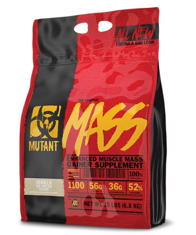 Limited Mutantmass Mutant Mass 2 Lbs pvl mutant mass 6 8kg new formula mass gainer