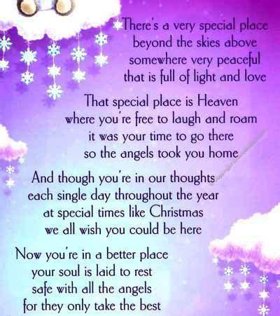 grave card xmas angel  heaven  holder cmx memorials funerals memorial poems
