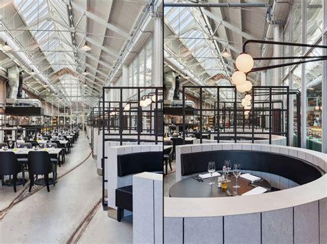 dutch restaurant flaunts industrial design  rails