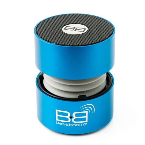Speaker Bluetooth Bass bass boomz bluetooth speakers blue bytemytech