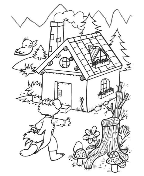 brick house coloring page 3 little pigs brick house colouring pages coloring home