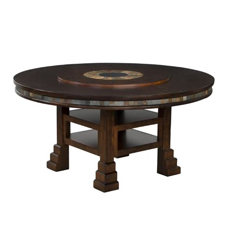 Dining Table With Lazy Susan Designs Santa Fe 60 Quot Dining Table With Lazy Susan Ebay