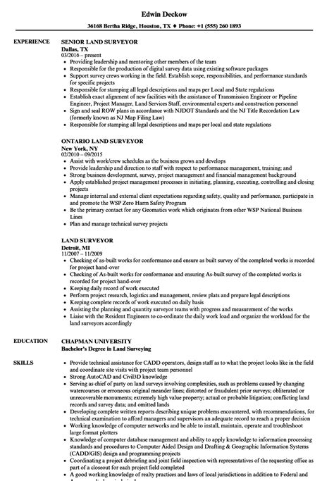 land surveyor resume sle land surveyor experience certificate sle choice image