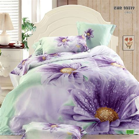 purple flower comforter set purple floral printed 4pc bedding set king queen size