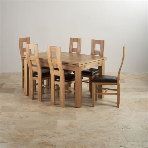 real oak dining table dorset dining set extending table in oak 6 leather chairs