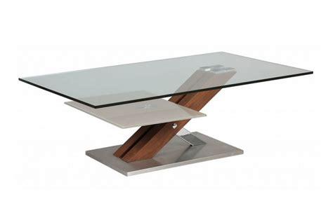 Table Bois Et Verre by Table Basse Verre Et Bois Massif Novomeuble