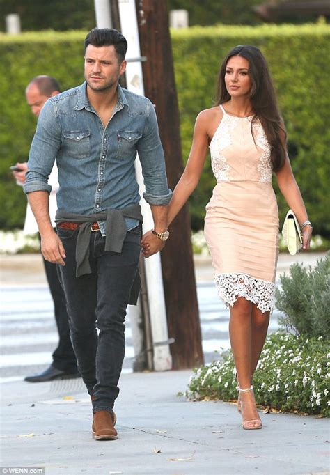 michelle keegan shows off her slender physique with mark