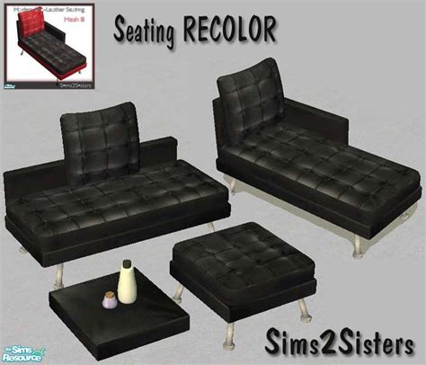Recolor Leather Sofa Sims2sisters Modern Eco Leather Seating Recolor 4