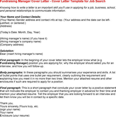 charity fundraiser cover letter exle best photos of sle cover letter fundraising position