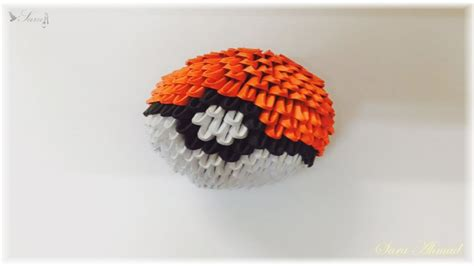 3d origami pokeball diagram