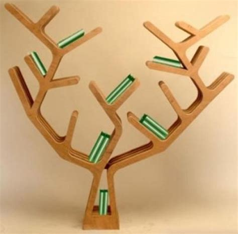 wooden tree bookshelf 2013