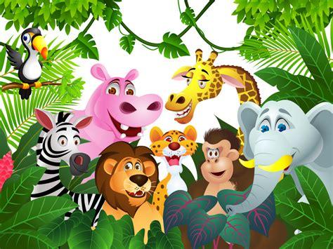 Wallpaper Kartun Animal Safari by Photo Wallpaper For Jungle Animals Ohpopsi