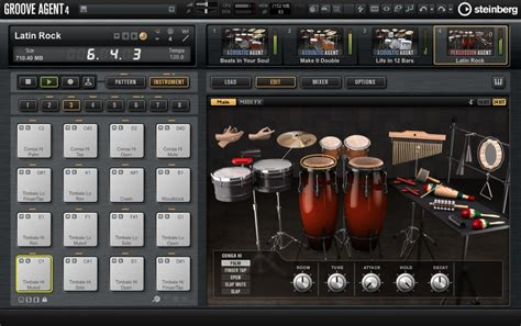 free drum pattern vst steinberg groove agent 4 drum workstation launched