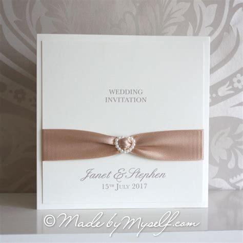 Wedding Invitations With Ribbon by Ribbon Pocketfold Wedding Invitation