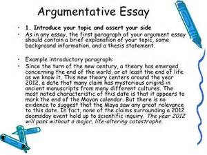 Argumentative Essay Introduction Exles by Lecture 7 Argumentative Essay