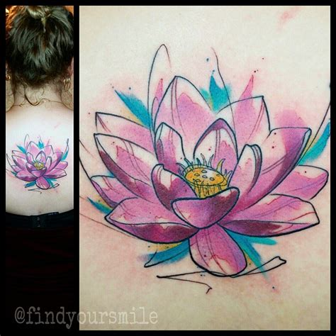 watercolor lotus flower tattoo 49 watercolor lotus tattoos ideas