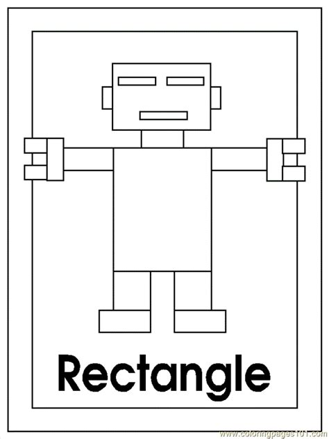 shape robot template b rectangle coloring page free shapes coloring pages