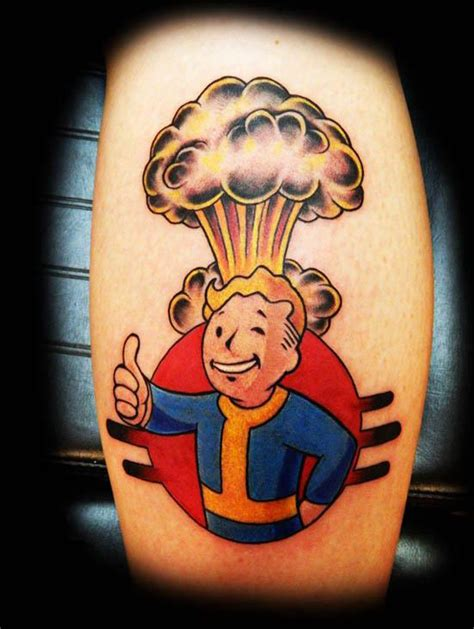 need tattoo inspiration need some fallout themed tattoo inspiration here it is