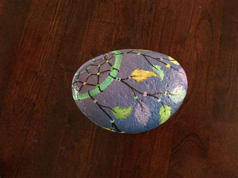 Pastel Catcher catcher pastel painted rock