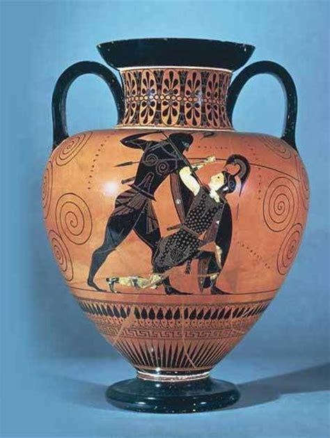 Achilles And Penthesilea Vase by Exekias Lotta Tra Achille E Pentesilea Anfora Attica A