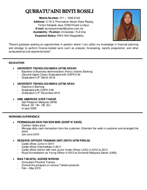 simple resume after spm sle certificate diploma uitm choice image certificate