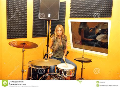 hot chick playing drums drummer stock photos image 11390703