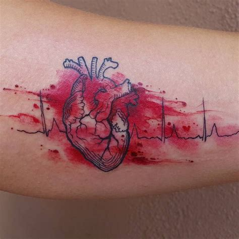 ekg tattoos best 25 ekg ideas on heartbeat tattoos