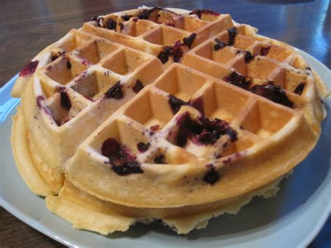 the mixed stew monday s bread bowl blueberry waffles