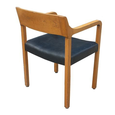 mid century modern krug wood arm chairs ebay