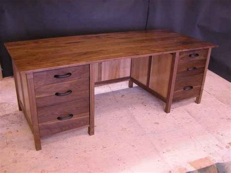 Handcrafted Desk - walnut sycamore custom computer desk by dumond s furniture