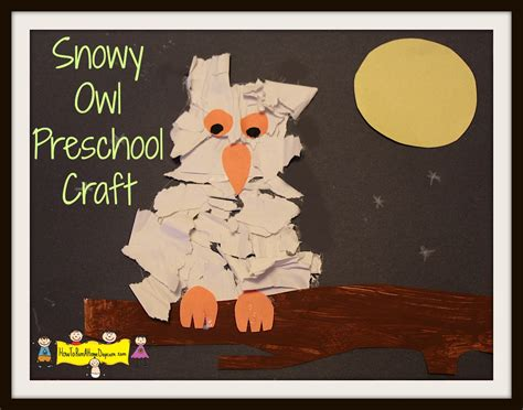 Ripped Paper Owl Rockabye Butterfly Paper Owls - snowy owl preschool craft how to run a home daycare
