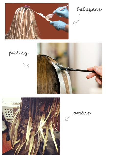 foils vs ombre highlights foiling vs balayage vs ombre the small things blog
