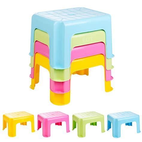 plastic stackable stools multi purpose sturdy plastic step stool home bathroom