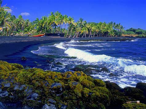 black sand beach the big island hi big island hawaii united states of america world for