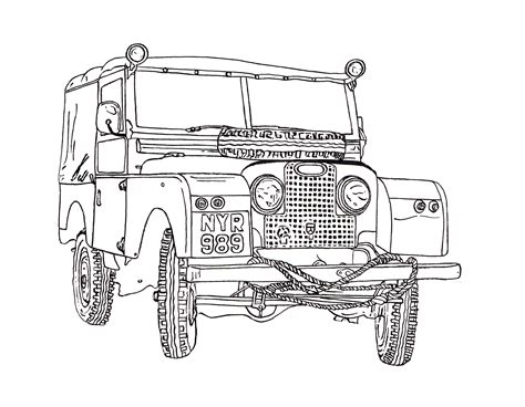 range rover drawing land rover series ii ink drawing land rover