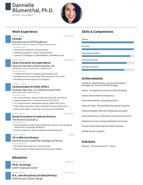 Free One Page Resume Website Template by One Page Resume Created With Free Novoresume Template