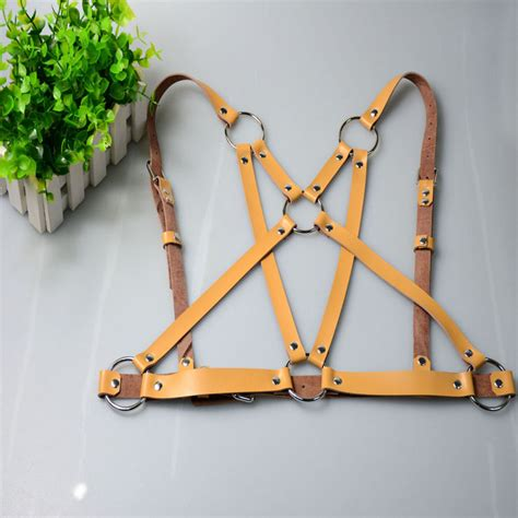 Handmade Harness - leather harness sculpting chest waist