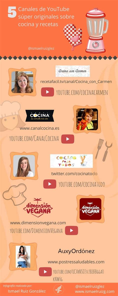 canales de cocina mejores canales de youtube en espa 241 ol 2018 top youtubers