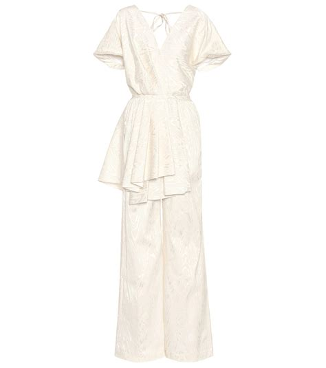 Johnny Rosie Jacquard Print Bag by Lyst Rosie Assoulin Swept Away Jacquard Jumpsuit In White