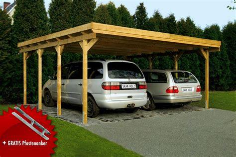 carport skanholz holz carport skanholz 171 holstein 187 flachdach doppelcarport